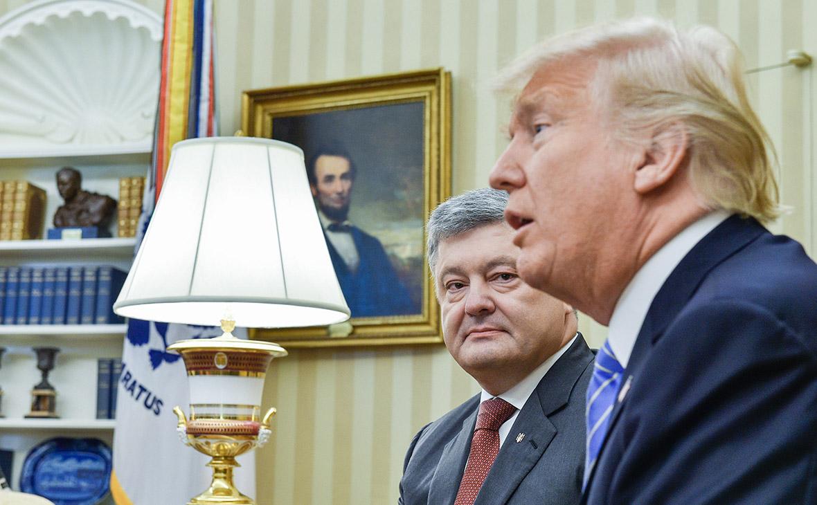 Петр Порошенко и Дональд Трамп (слева направо)