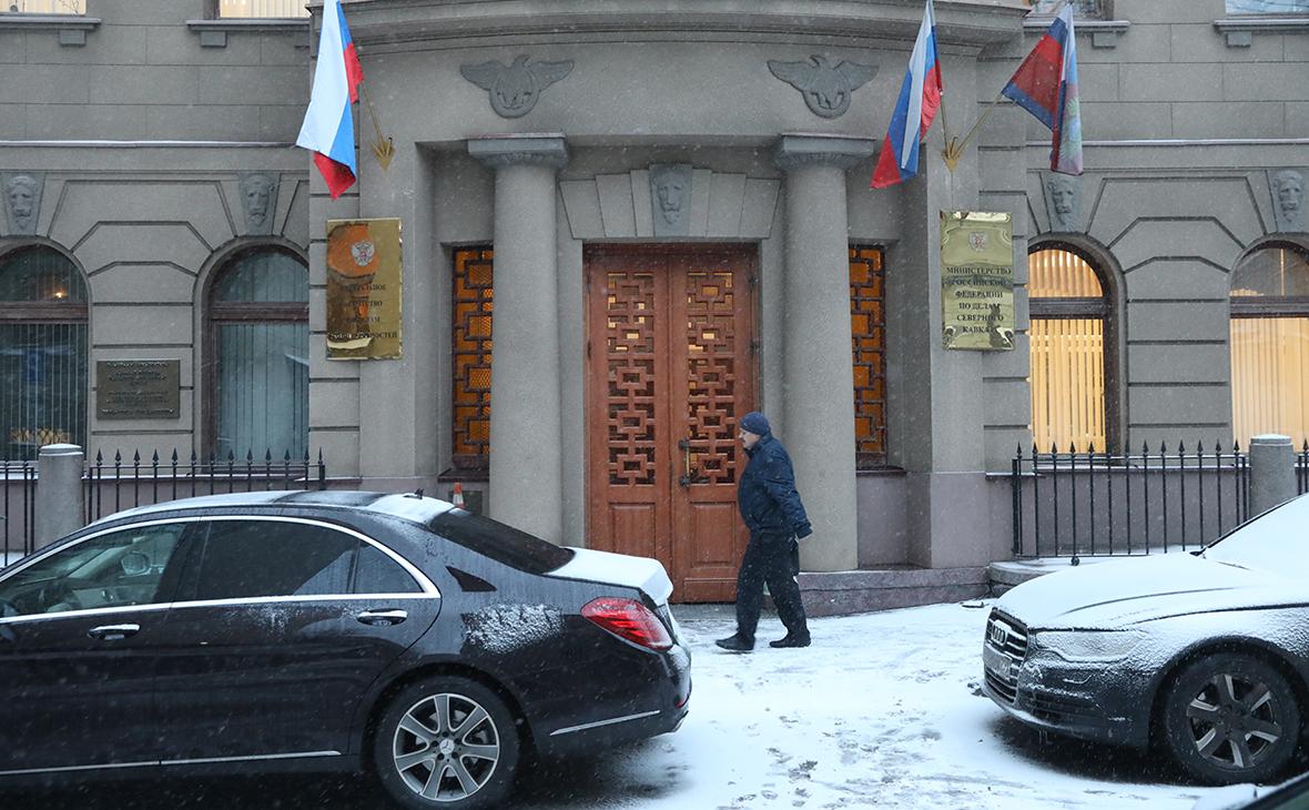 Вход в здание Министерства РФ по делам Северного Кавказа