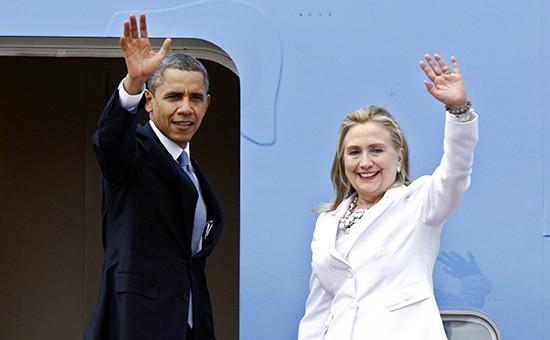 Президент США Барак Обама и экс-госсекретарь Хиллари Клинтон, 2012 год