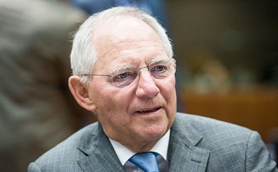 Глава Министерства финансов Германии Вольфганг Шойбле