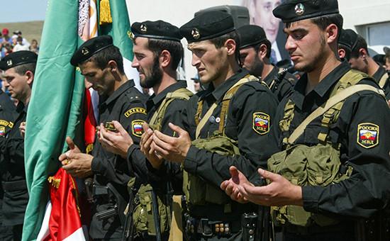 Сотрудники МВД Чеченской Республики