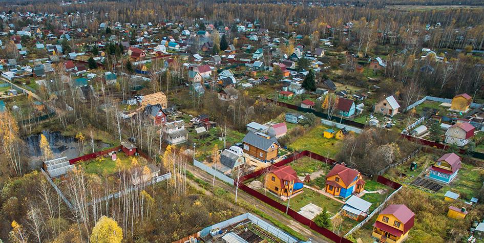 Вид на дачные участки в СНТ в Орехово-Зуевском районе