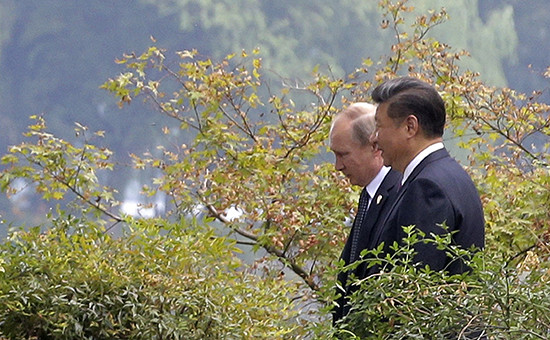Президент России Владимир Путин и председатель КНР Си Цзиньпин.Китай Ханчжоу