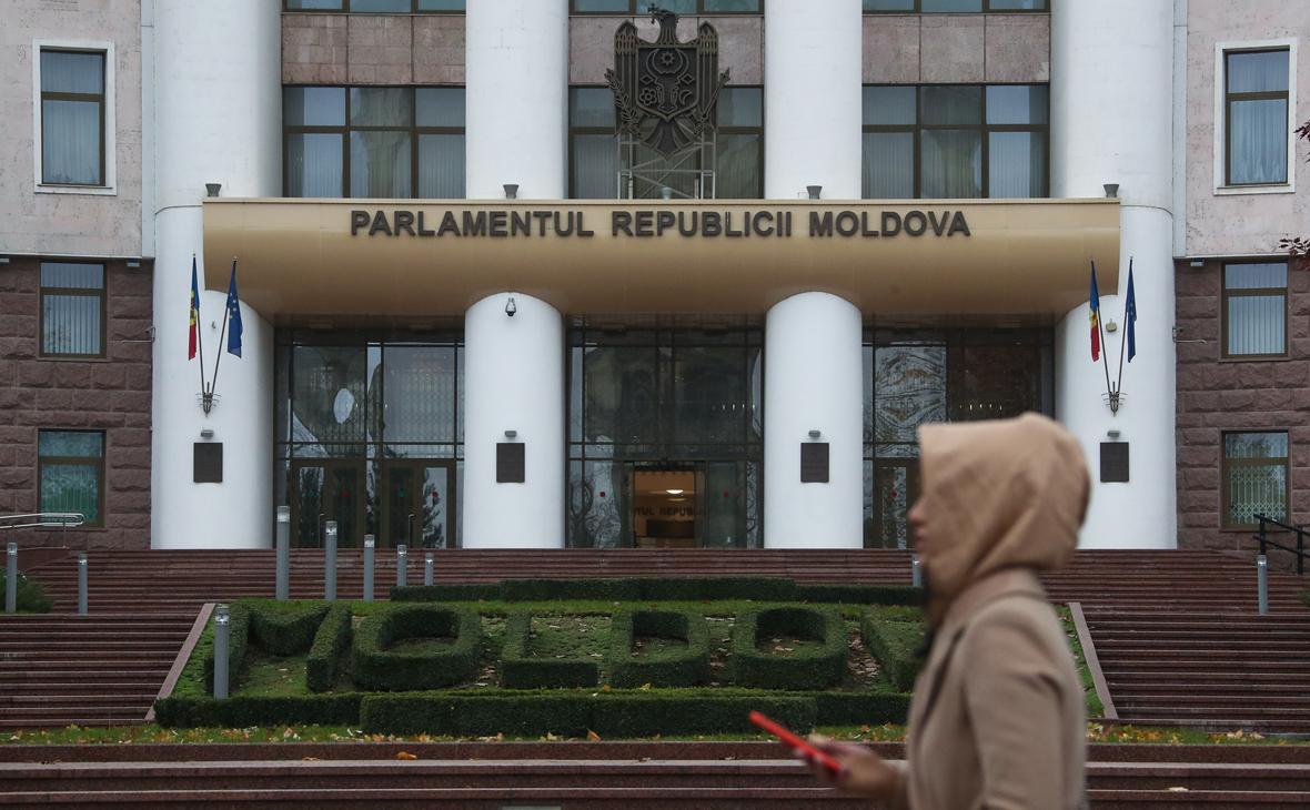 Вид на здание парламента Молдавии