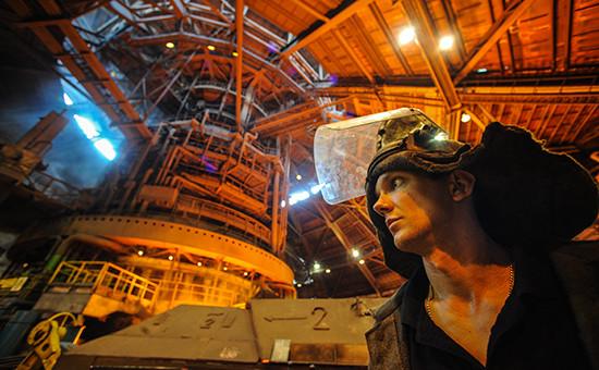 Работа Новолипецкого металлургического комбината