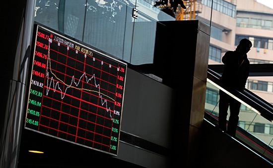 В здании Шанхайской фондовой биржи
