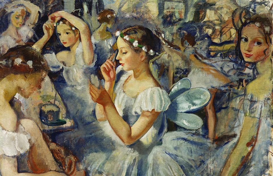 Зинаида Серебрякова. «Девочки-сильфиды» (Балет «Шопениана»), 1924