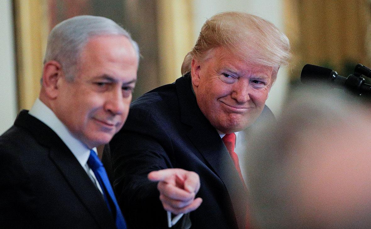 Биньямин Нетаньяху и Дональд Трамп