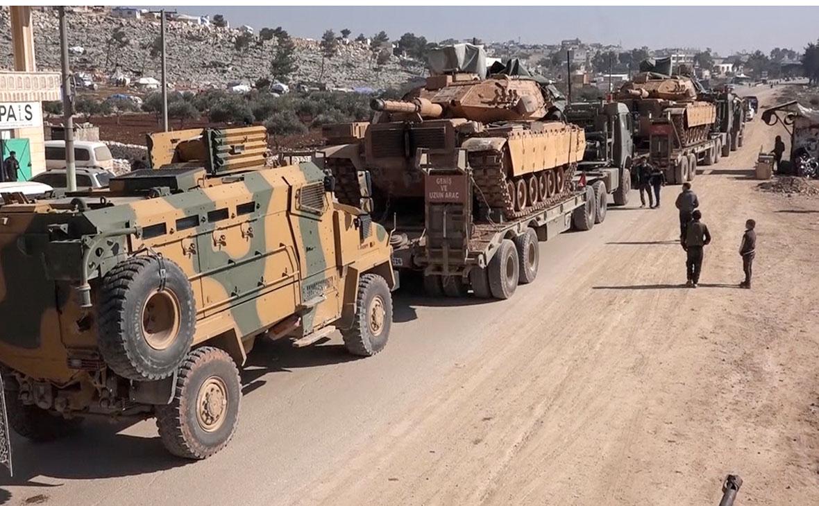 Конвой вооруженных сил Турции в провинции Идлиб