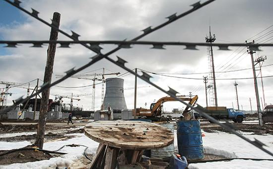 Строительная площадка комплекса Ленинградской АЭС-2