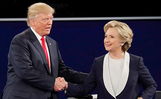Главные претенденты напост президента США—миллиардер Дональд Трамп иэкс-госсекретарь Хиллари Клинтон