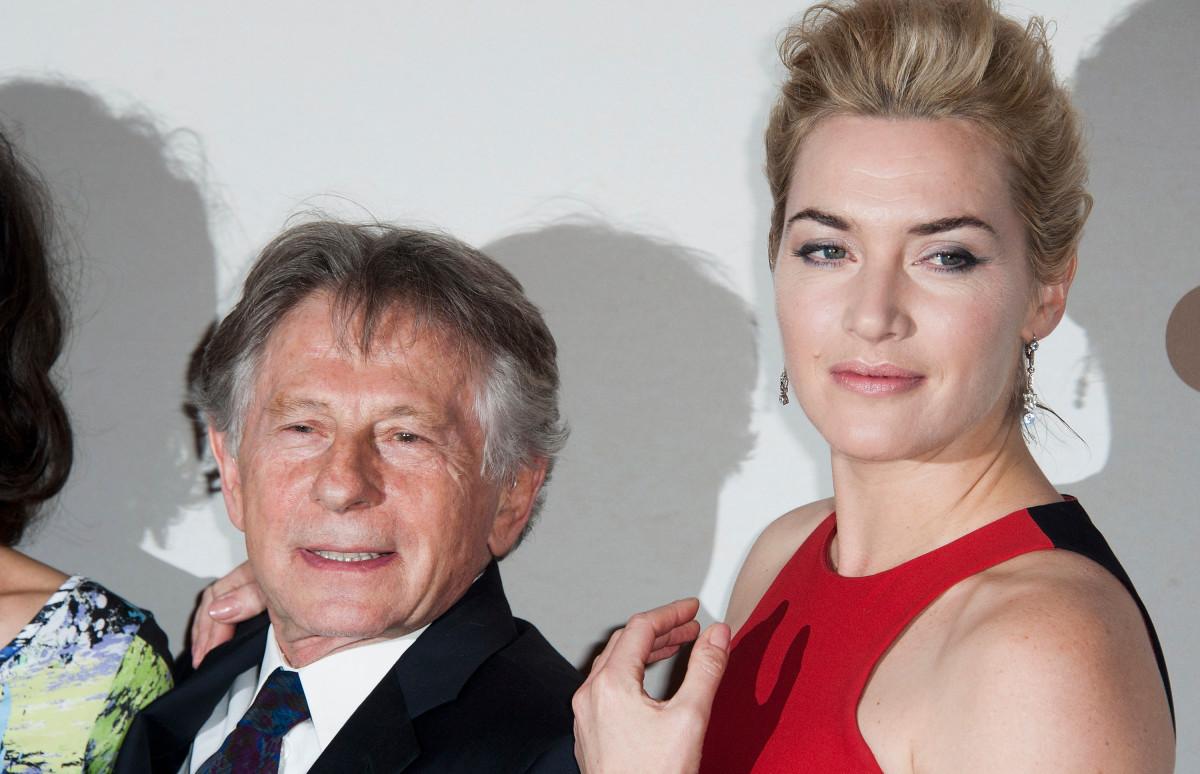 Роман Полански и Кейт Уинслет на премьере фильма «Резня»