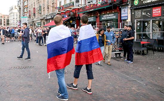 Российские болельщики в Лилле