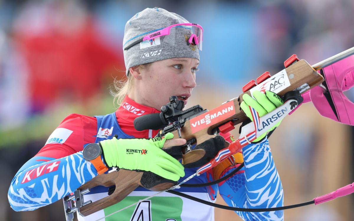 Российская биатлонистка Ирина Казакевич