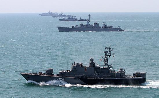 Военные корабли НАТО в Средиземном море