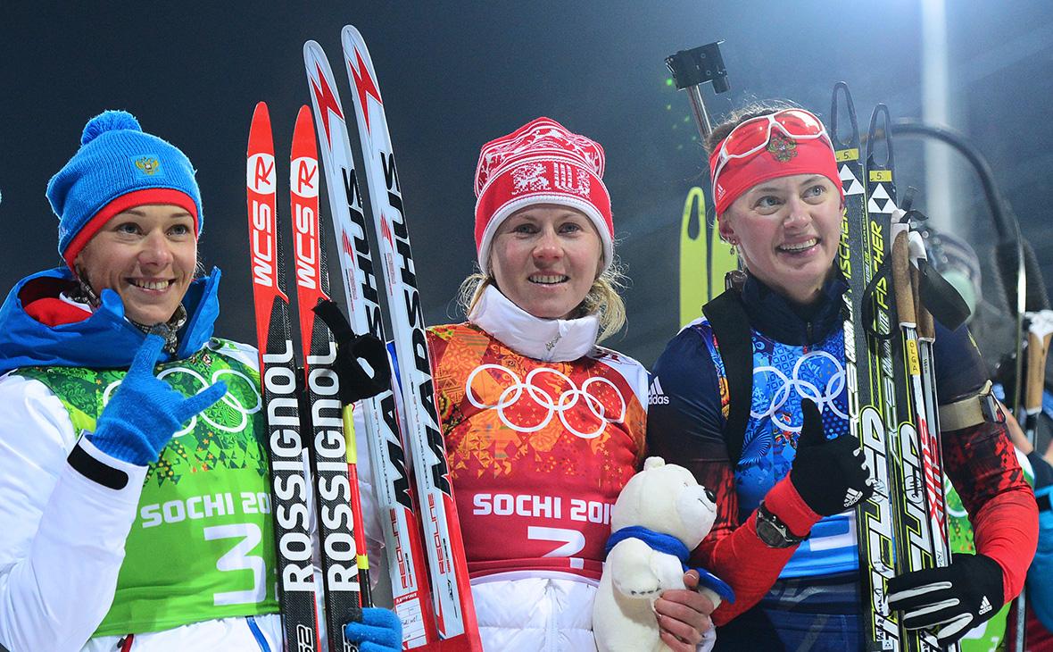Ольга Зайцева, Яна Романова, Ольга Вилухина(слева направо)