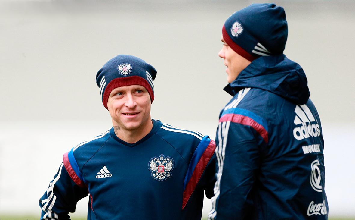 Павел Мамаев (слева) иАлександр Кокорин