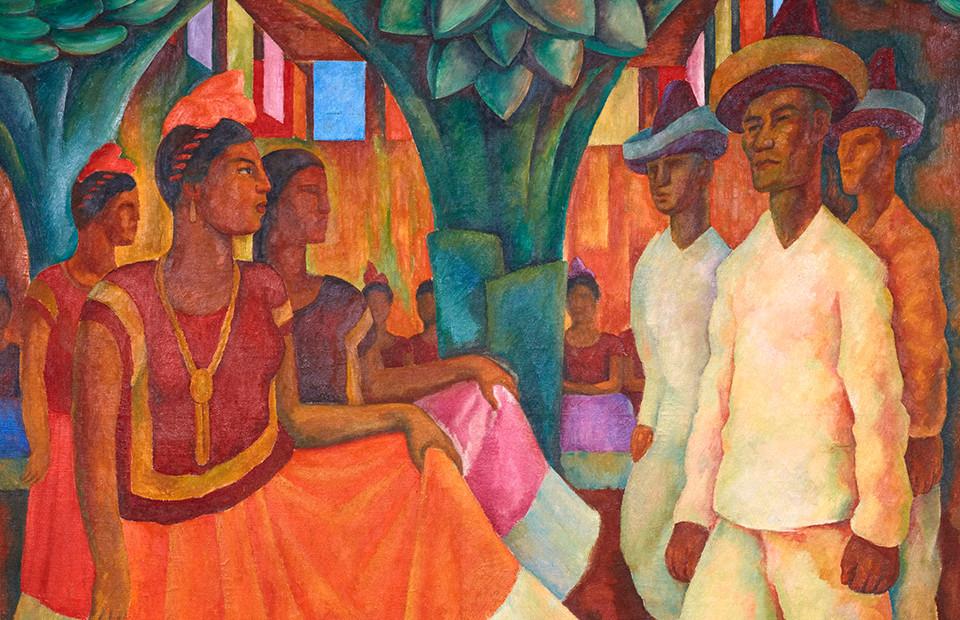 Диего Ривера. «Танец в Теуантепеке», 1928 (фрагмент)