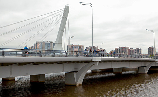 Мост черезДудергофский канал, 28 мая 2016 года