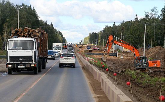 Строительство пускового комплекса ЦКАД в Московской области