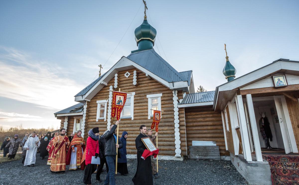 Храм Архангела Михаила в поселке Чална Пряжинского района Республики Карелия