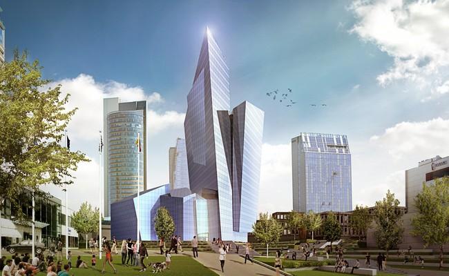 Проект небоскреба в центре Вильнюса