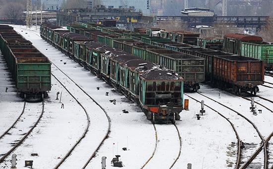 Вагоны с углем в Донецке. 14 февраля 2017 года