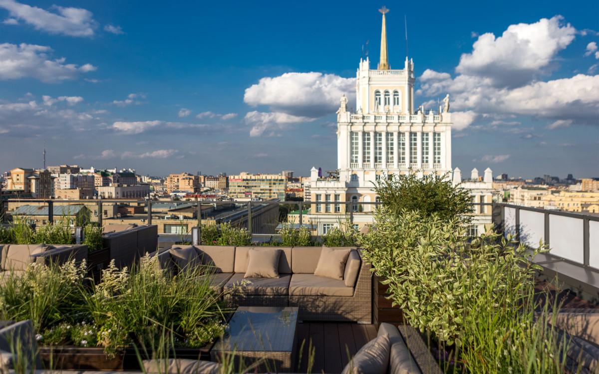 Вид с террасы ЖК «Сады Пекина»