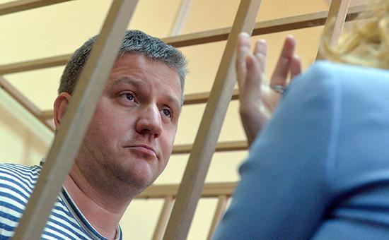 Бывший председатель правления «РусГидро»Евгений Дод в здании Басманного суда города Москвы, 23 июня 2016 года