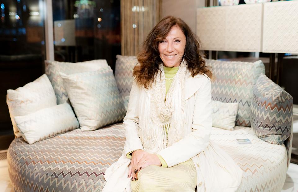 Ванда Ельмини на открытии Art & Design Gallery Mobillissimi в ноябре