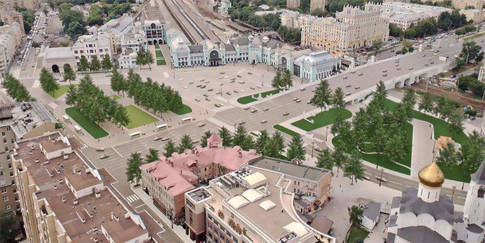 Проект благоустройства площади Тверская Застава