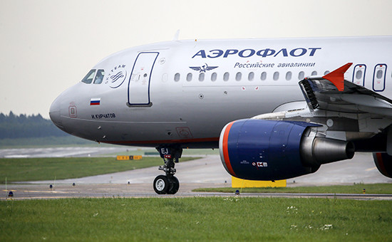 Самолет авиакомпании «Аэрофлот»