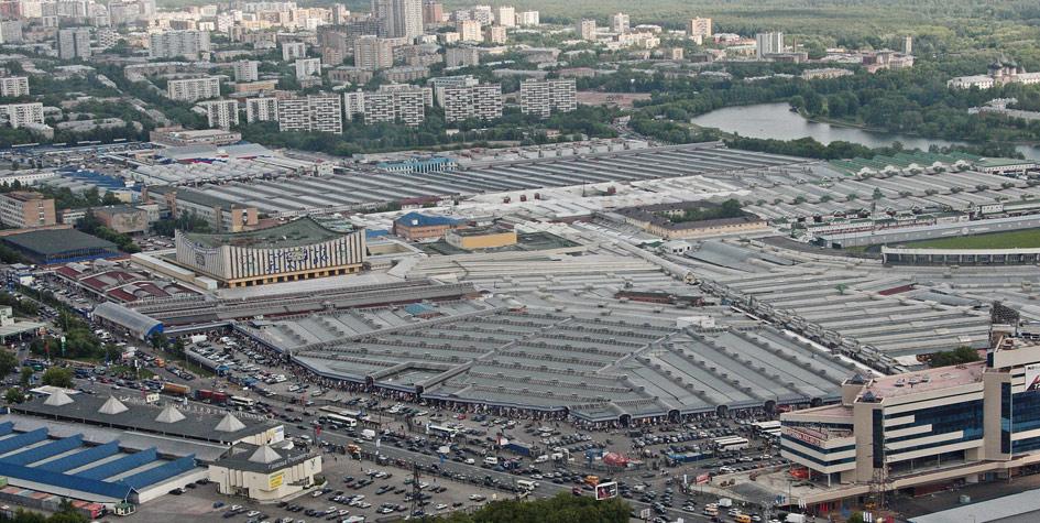 Территория Черкизовского рынка до сноса