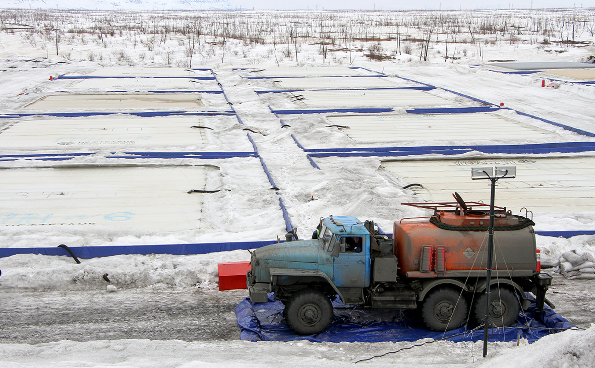 Территория ТЭЦ-3 в Норильске