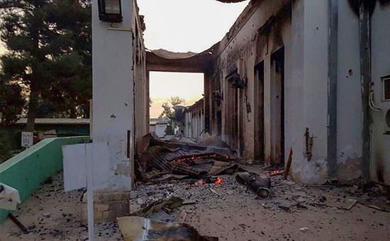 Госпиталь международной организации «Врачи безграниц» послеавиаудара