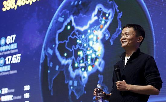 Основатель интернет-компании Alibaba Джек Ма во времятотальной онлайн-распродажи