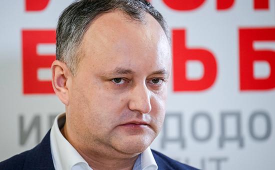 Кандидат отПартии социалистов Республики Молдова Игорь Додон