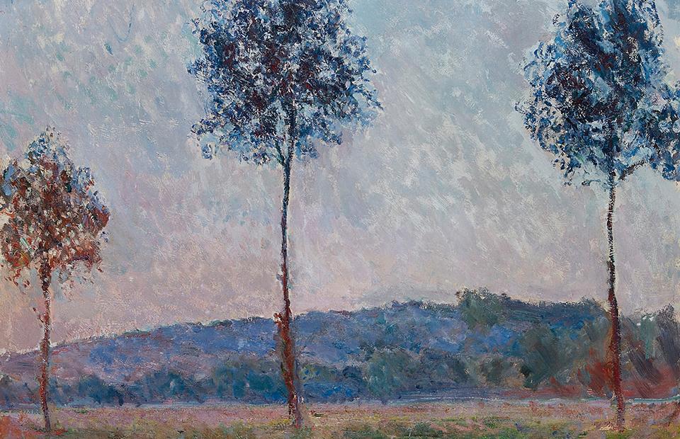 Фрагмент картины Клода Моне. «Три дерева в Живерни»