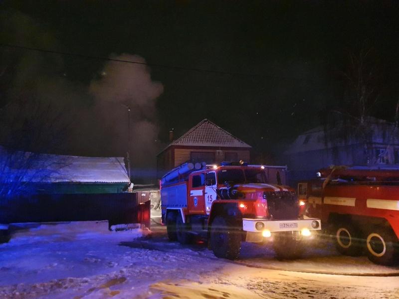 Пожар в частном доме на ул. Трактовой, пос. Боровский Тюменского района.