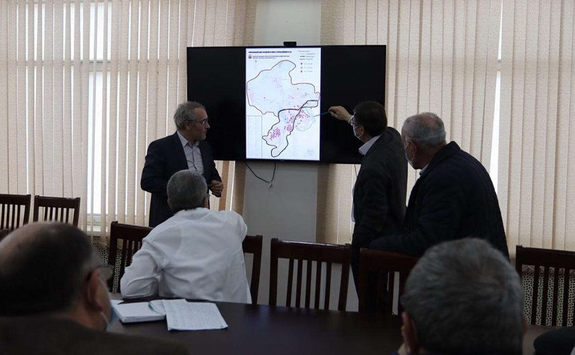 Заседание городского оперативного штаба в дагестанском Буйнакске