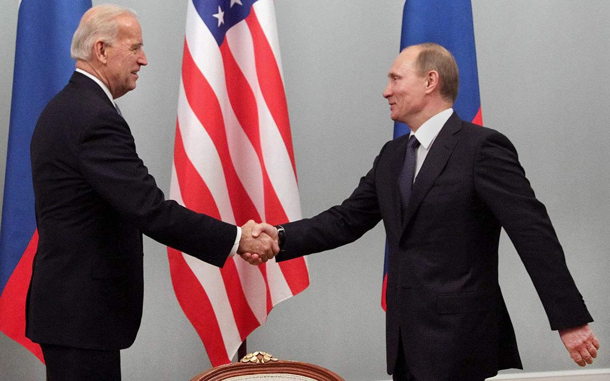 Джо Байден иВладимир Путин