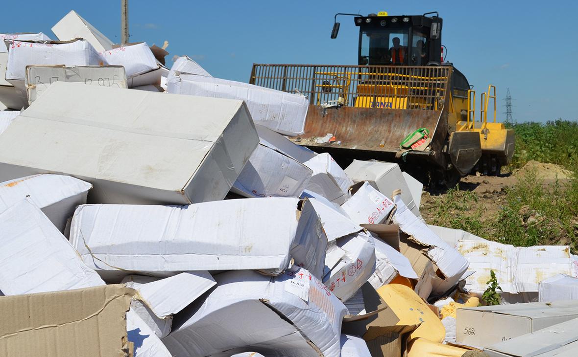 Уничтожение санкционных продуктов. 2015 год