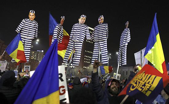 Массовые акции протеста вРумынии  