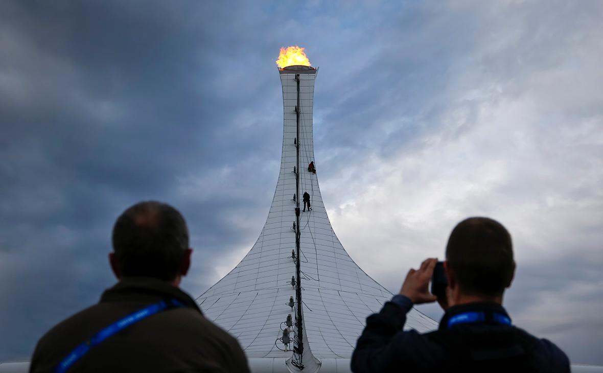 Олимпийский огонь в Сочи