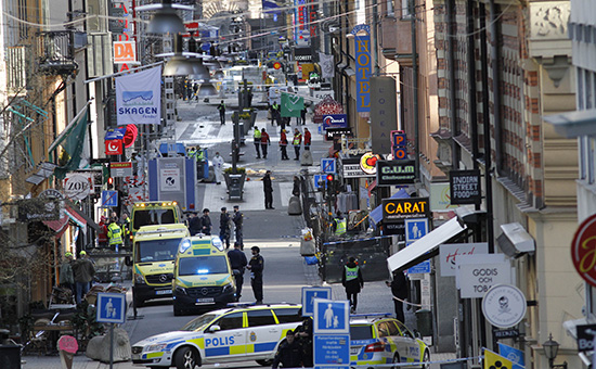 УлицаДроттнинггатан после атаки