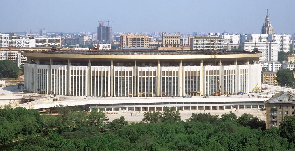 Спорткомплекс «Олимпийский» перед открытием Олимпиады. 1980 год