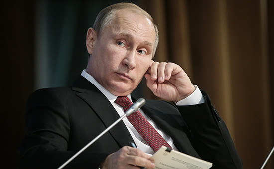 Президент России Владимир Путин на пленарном заседании Общероссийского форума «Государство и гражданское общество»