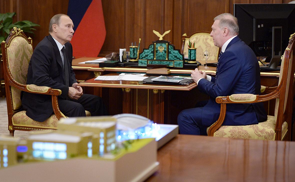 Владимир Путин и Муса Бажаев