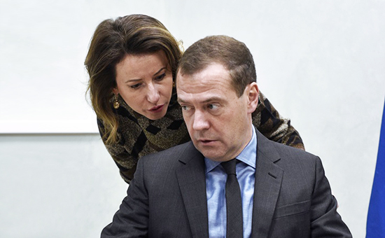 Наталья Тимакова и Дмитрий Медведев