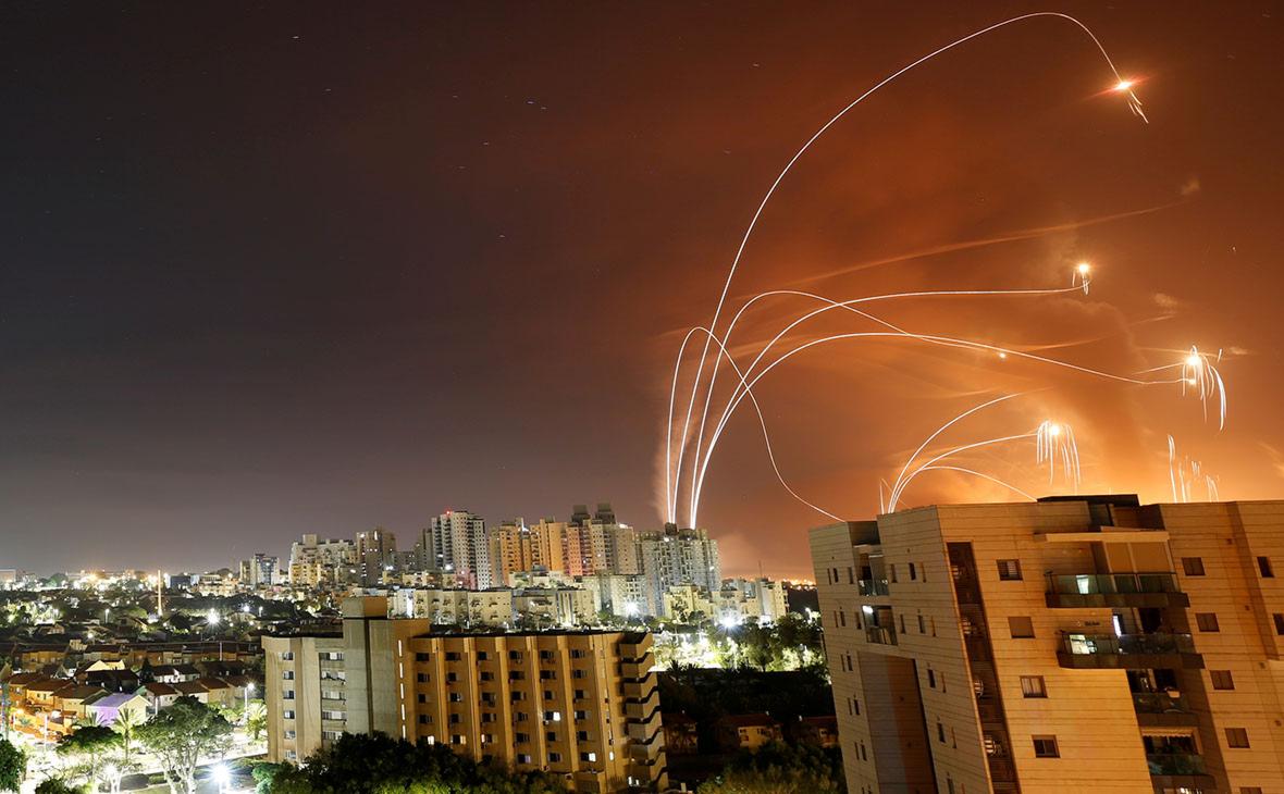 Запущенные из сектора Газа в сторону Израиля ракеты